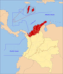 Map Of South America And Caribbean by Caribbean Region Of Colombia Wikipedia