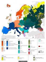 Show Map Of Europe by Languages In Europe Language European Languages And History