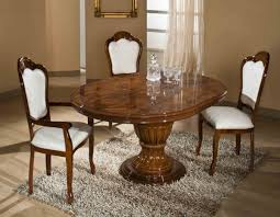 elizabeth round extendable dining table made in italy