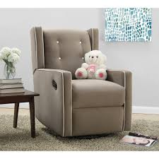 Upholstered Swivel Chairs Baby Relax Mikayla Swivel Gliding Recliner Choose Your Color