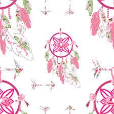 Shabby Chic Pink Wallpaper by Sweet Dreams Shabby Chic Dream Catchers Fabric Karenharveycox