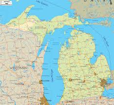Detroit Michigan Map by Lake Michigan Maps Michigan Map