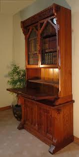 victorian gothic revival pitch pine bureau bookcas antiques atlas