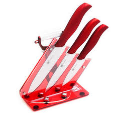 online buy wholesale ceramic knife set pieces from china best three piece ceramic knives gift set plus peeler and red acrylic holder xyj brand