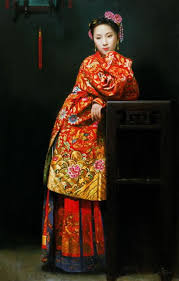 We recommend online dating websites in China to date Chinese girls     A painting of a Chinese bride by Jiang Changyi
