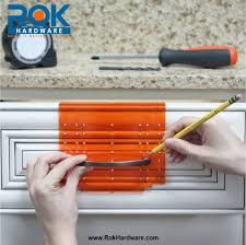 How To Measure Kitchen Cabinet Doors Rok Hardware Knob And Handle Pull Template For Cabinet Doors And