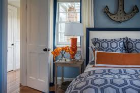 Bedroom Wall Decor Ideas Bedroom Killer Nautical Blue And Orange Bedroom Decoration Using