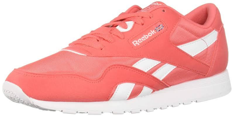 Reebok Classic Nylon Bright Rose/White Running Shoes