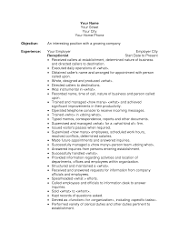 Administrative Assistant Resume Objective Examples by Retail Resume Objectives Samples Resumebaking Example Good Resume