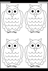 Halloween Preschool Printables Owl Tracing And Coloring U2013 4 Halloween Worksheets Free Printable