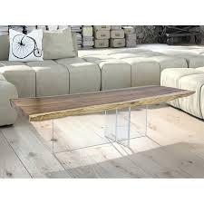 Wohnzimmertisch Modern Massivholz Couchtisch Modern 130x80cm Auf Acryl Untergestell In