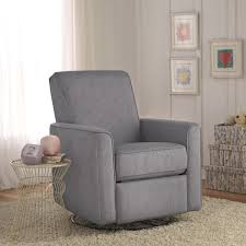 zoey grey nursery swivel glider recliner chair free shipping