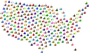 Unite States Map by Clipart Prismatic Thumbs Up United States Map 4