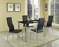 epic black glass dining room table and chairs 91 on best dining
