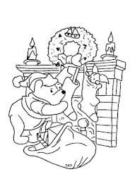 winnie the pooh and piglet christmas coloring page for kids