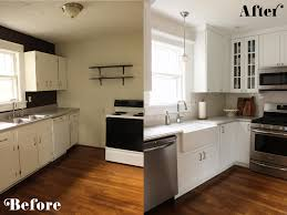 Kitchen Cabinets Design For Small Kitchen by Remodelaholic Small White Kitchen Makeover With Built In Fridge