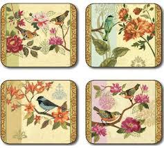 placemats.de | Jason Bird Study Tischsets | Blumen - Jason_BIRD_STUDY_placemats_all4_400