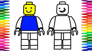 how to draw color lego minifigures drawing with colorful markers