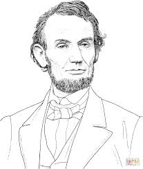 president abraham lincoln portrait coloring page free printable