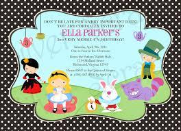 1st Year Baby Birthday Invitation Cards Alice In Wonderland Birthday Invitations U2013 Gangcraft Net