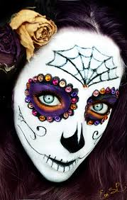 Skeleton Makeup For Halloween by Sugar Skull Halloween Makeup By Chuchy5 On Deviantart