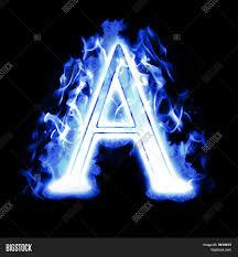 icy blue burning letter high image u0026 photo bigstock
