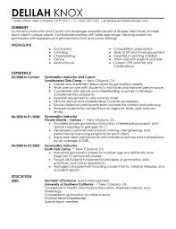 Resume Sample For Human Resource Position by Best Gymnastics Instructor Resume Example Livecareer