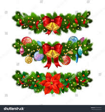 christmas festive decoration christmas tree branches stock vector