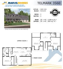 Cape Cod Modular Floor Plans by Cape Cod Marvel Homes