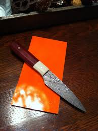 sold delbert ealy stainless damascus paring knife