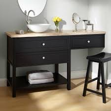 Black Distressed Bathroom Vanity by Bathroom Makeup Vanity And Chair Sink Vanities 60