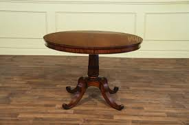 small round dining table with leaves from 44 inch to 80 inch