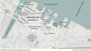 T Boston Map by Boston U0027s Innovation District The Urban Imagination