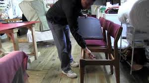 how to upholster dining room chairs mov youtube