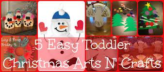 lily u0026 frog friday 5 5 easy toddler christmas arts n u0027 crafts