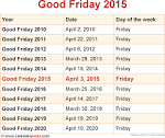 When is Good Friday 2015 and 2016? Date of Good Friday 2015