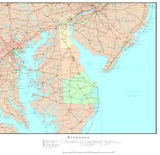 United States Map Delaware by Delaware Topographic Map Topographic Map