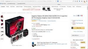 best pc gamer black friday deals sapphire radeon r9 295x2 8gb gddr5 dvi d quad mini graphics card
