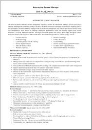 Technical Sales Resume Examples Automotive Service Manager Resume Sample Resume For Your Job