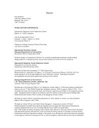 Officer Resume Corrections Officer Resume Resume For Your Job Application