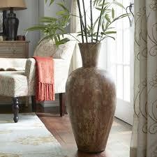 popular round white modern glass within floor vase decorating