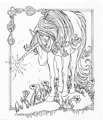 unicorn coloring pages for adults eson me