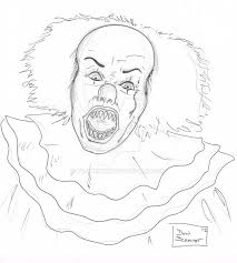 dsc pennywise the clown ink over pencil by bujinkomix