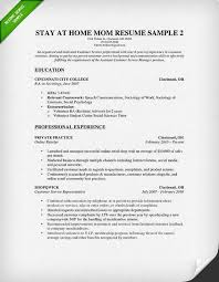 Volunteer Examples For Resumes by How To Write A Stay At Home Mom Resume Resume Genius