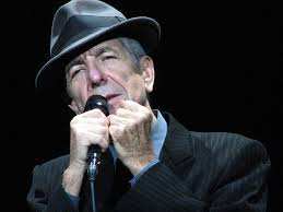 musician Leonard Cohen.