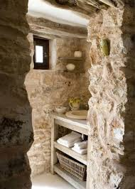 rock wall natural uneven wall tile stone bathroom ideas cool white