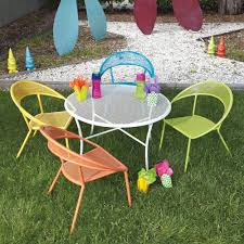 Cast Iron Patio Set Table Chairs Garden Furniture - woodard spright kids wrought iron patio furniture set with four