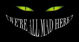 alice in wonderland smile cheshire cat black mad eyes dark