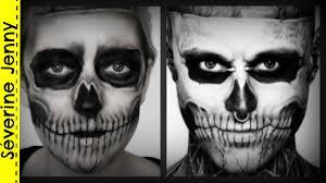 Halloween Male Makeup Maquillage Halloween Squelette Zombie Boy Skeleton Lady Gaga