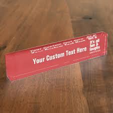 Custom Desk Name Plates by Humor Desk Name Plates Zazzle